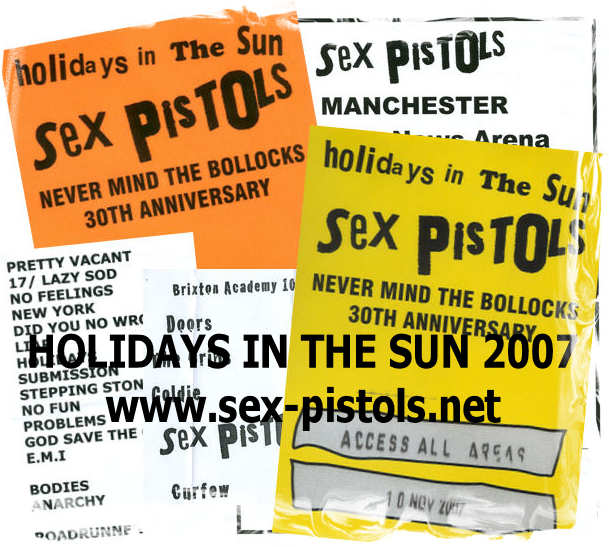Think, that sex pistols holidays in the with
