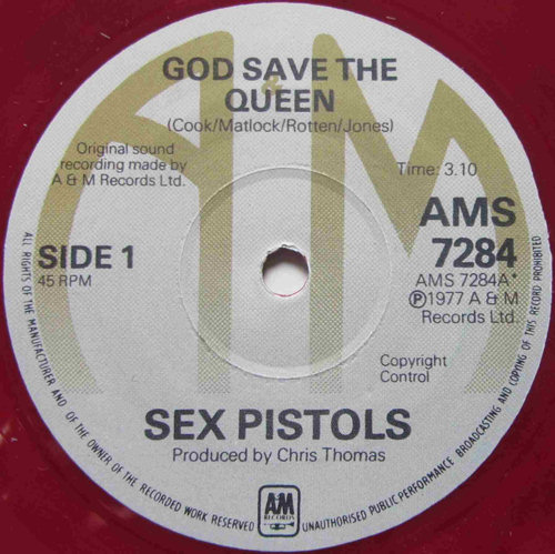 the sex pistols god save the queen a&m logo in Alabama