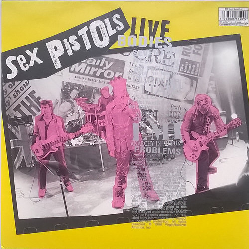 lyrics sex pistols bodies live in Leonora