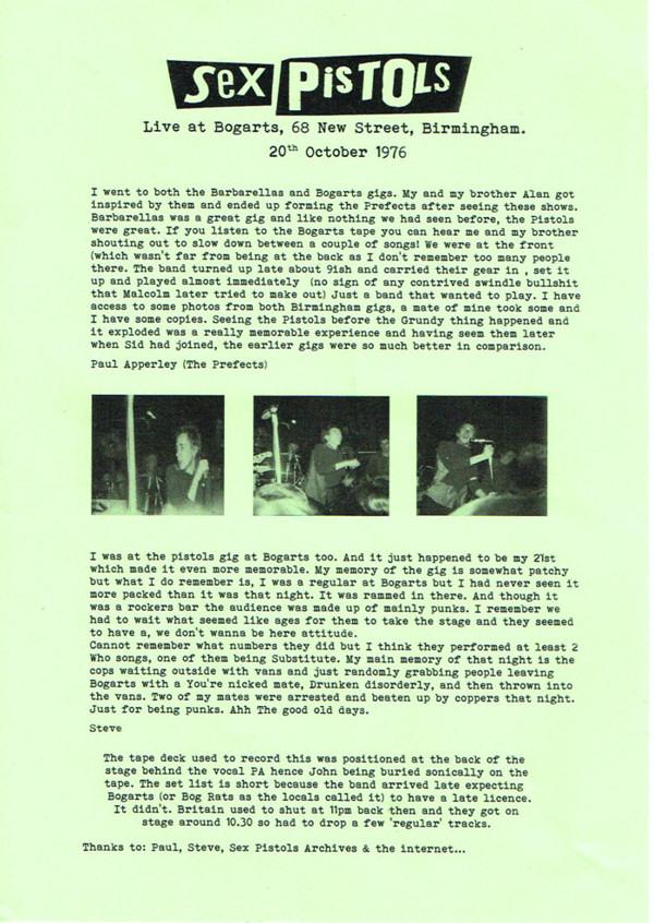 Sex Pistols Bootleg 72