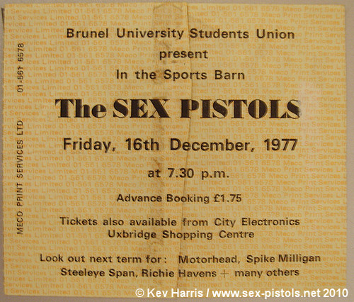 Sex Pistols Ticket 96