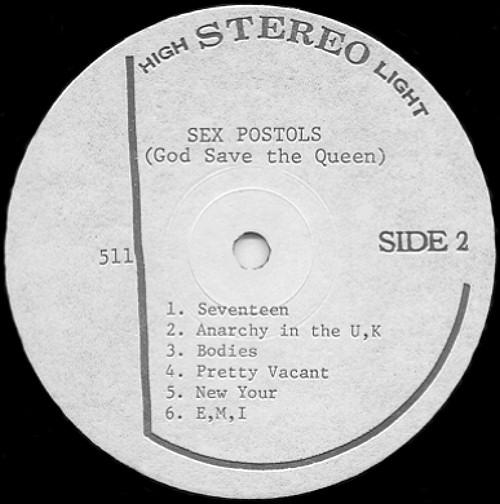 First record label sex pistols