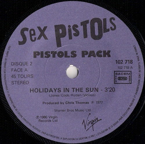 Sex pistols holidays in the not absolutely